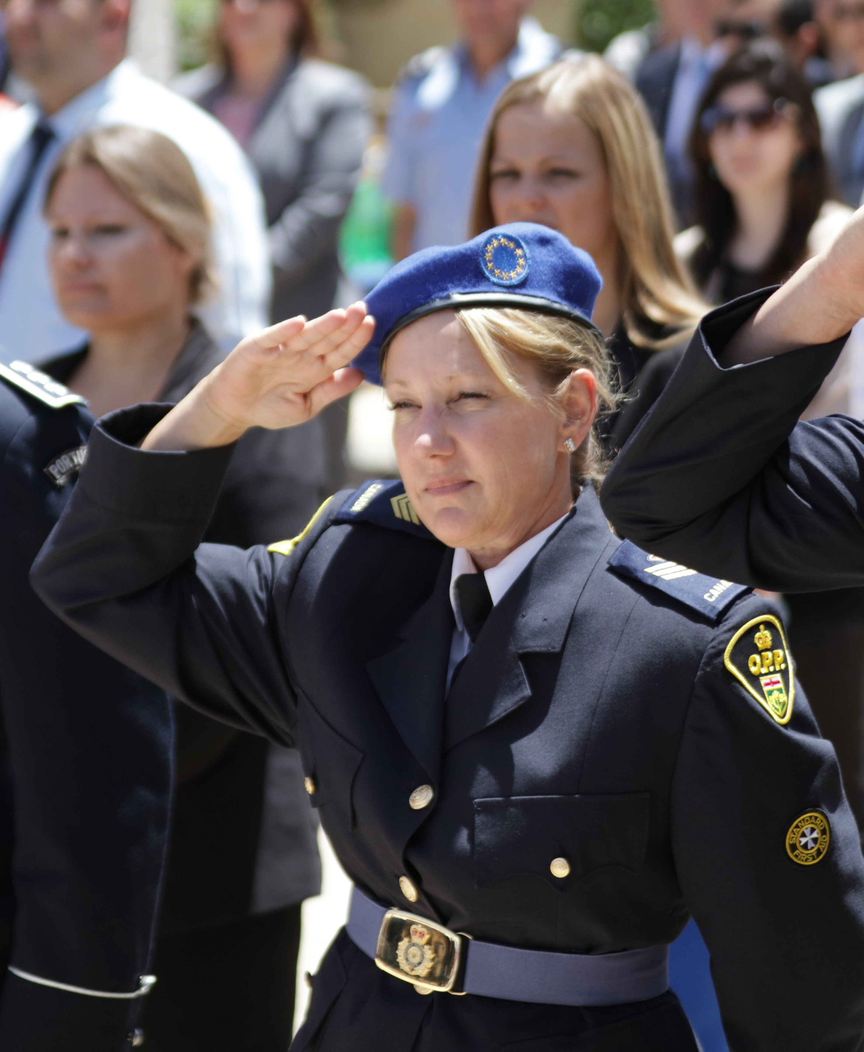 OPP Det -Sgt  Caren Ashmore leaves Canadian footprint in