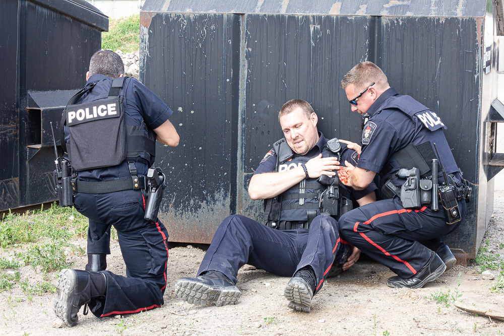 Pumping up first aid training for law enforcement